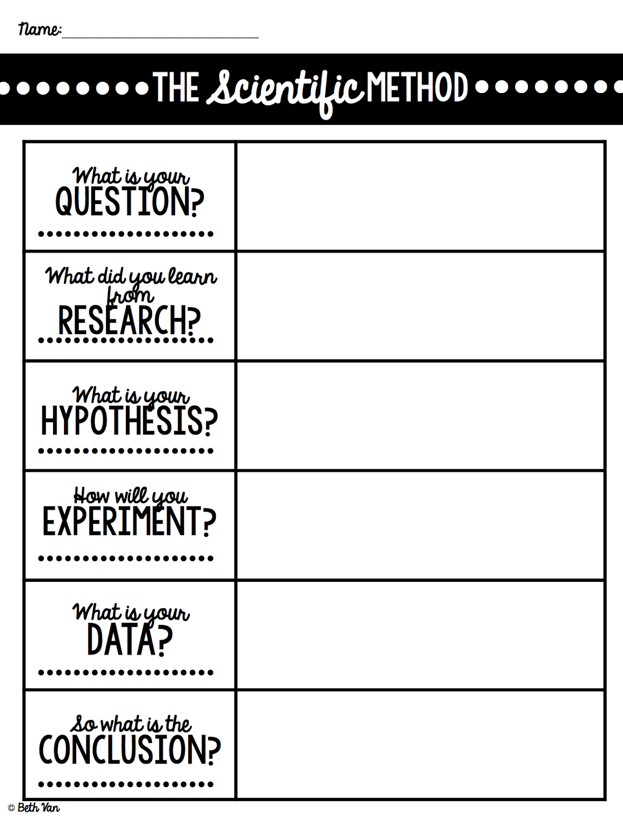 It's just a picture of Printable Scientific Method Worksheet within grade 7