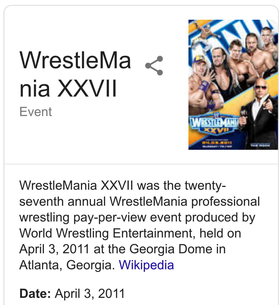 3cb3bb55d541 He also died 47-days after WrestleMania