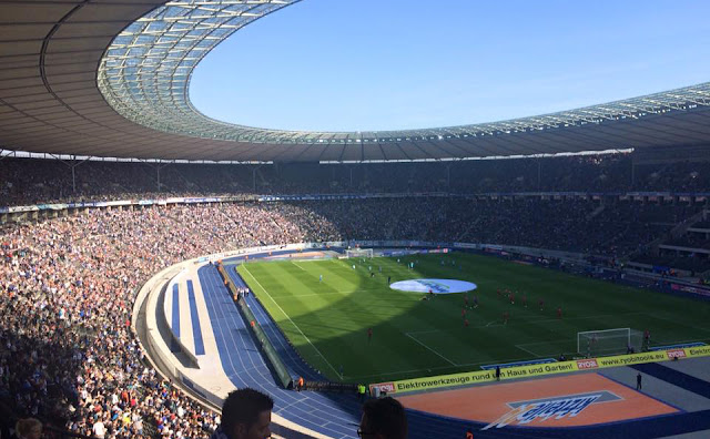 Berlin's packed Olympic Stadium