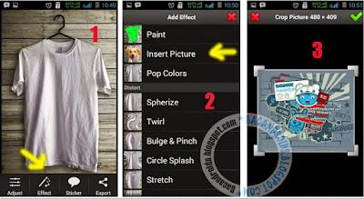 Tutorial Edit Foto Membuat Desain Pada Baju di Android