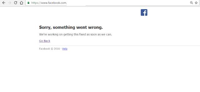 تعطل فيس بوك عن العمل اليوم الاثنين 3 أكتوبر 2016
