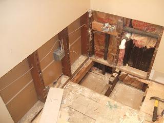 The Smiths Upstairs Bathroom Plumbing Moved