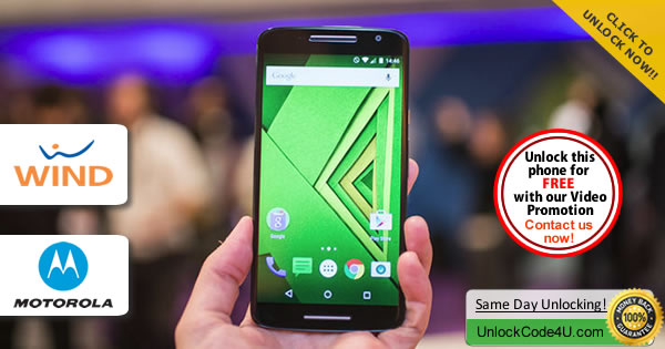 Factory Unlock Code Motorola Moto X Play from Wind