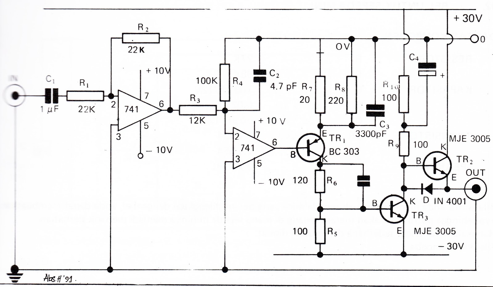 Penguat Audio 30 Watt