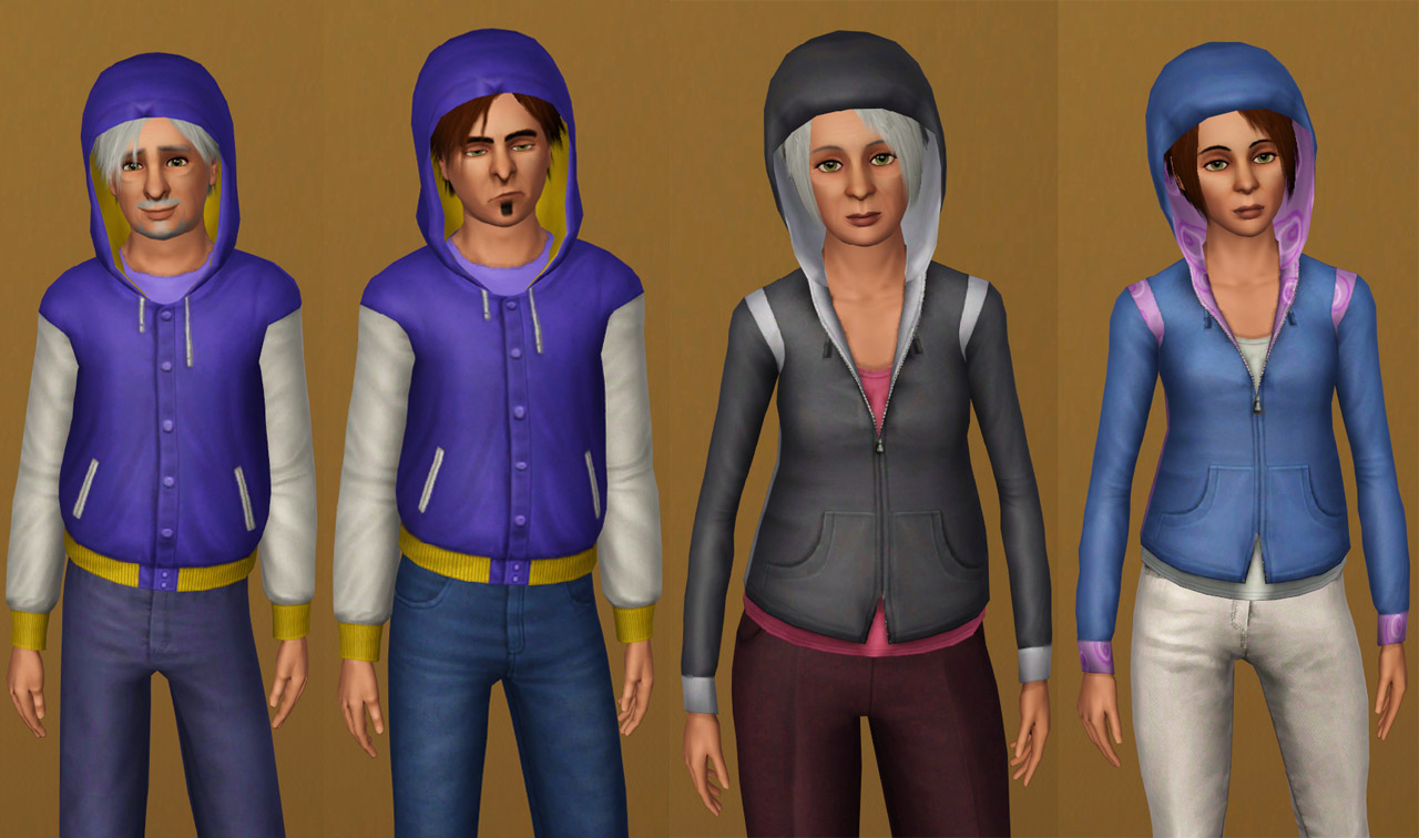 entertainment world: My Sims 3 Blog: Hoodie Top for Teen