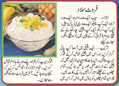 Recipes In Urdu Fruit Salad Recipe In Urdu