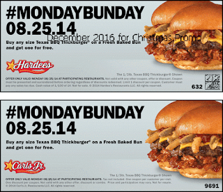 Hardees coupons december 2016