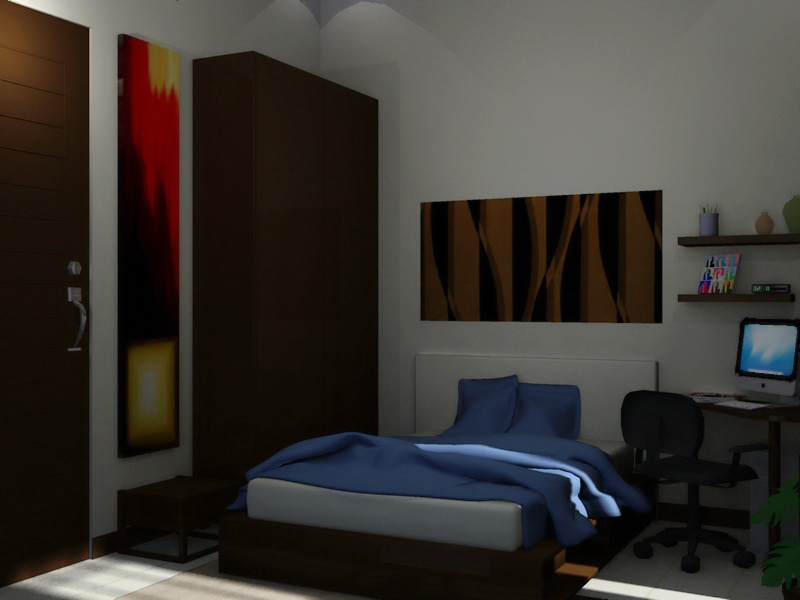 Desain Kamar Tidur Anak Cowok Sederhana