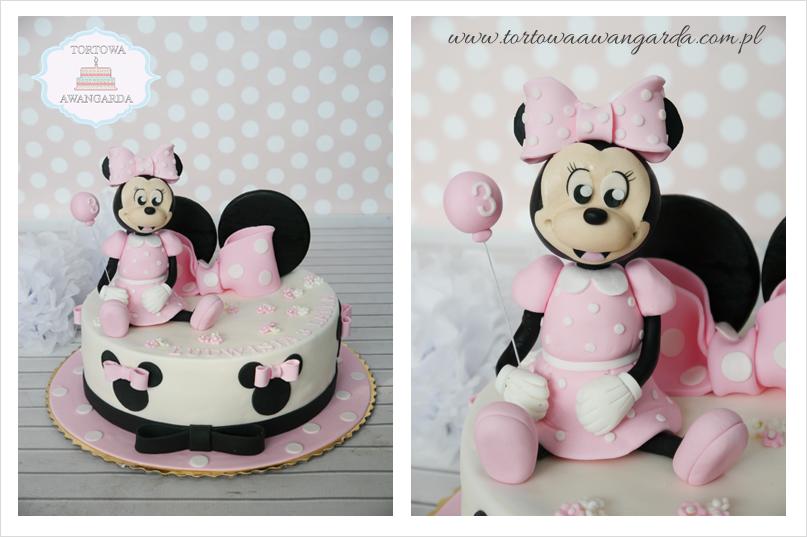 tort urodzinowy dla dziewczynki z myszką Minnie Warszawa Gocław Praga Południe