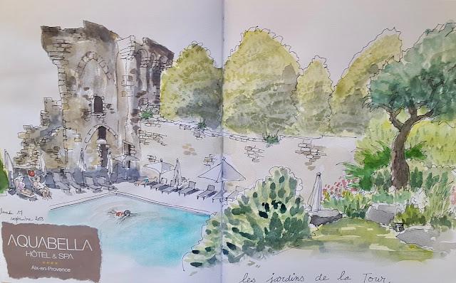 Aquabella jardin de la tour quatrinaime