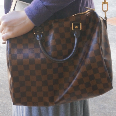 Away From The Blue | Louis Vuitton Damier Ebene speedy bandouliere and a maxi skirt