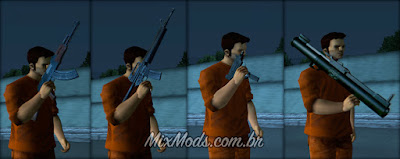gta iii 3 mod weapons armas hd tri-pack