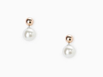 Mango Double Pearl Earrings