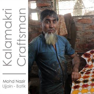 Kalamkari department artisan for Kosher Designs LLP