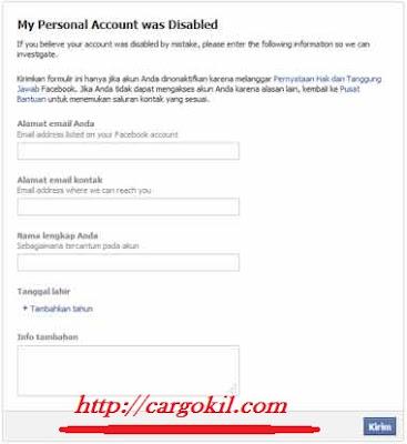 Facebook Dikunci Sementara