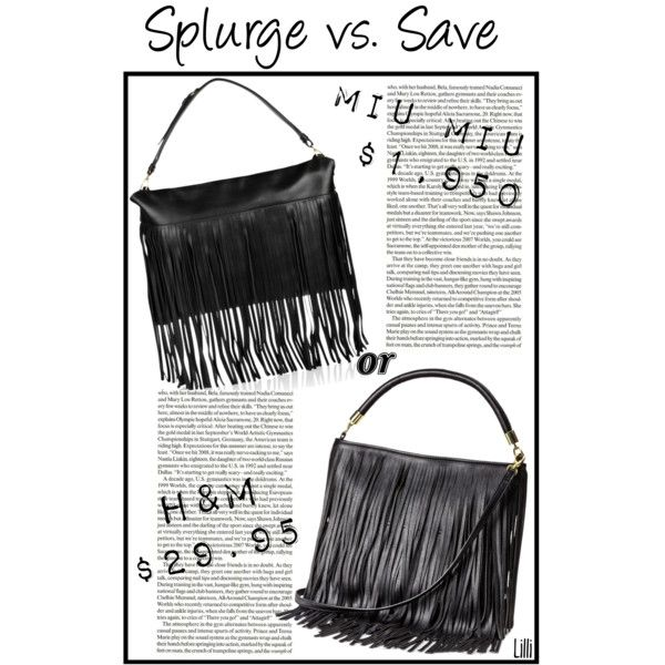 Splurge vs. Save: Fringed Bag