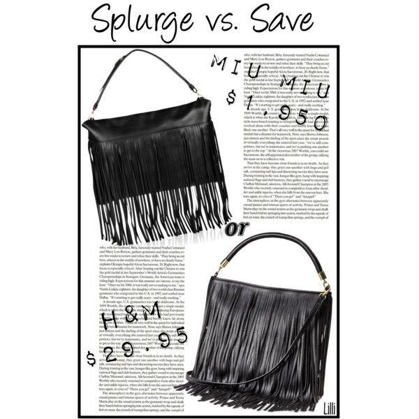 Splurge vs. Save: Fringed Bag