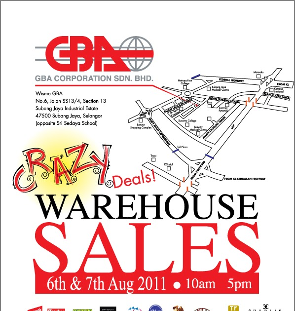9db55fe69 GBA Crazy Deals Malaysia Warehouse Sales (6 August - 7 August ...