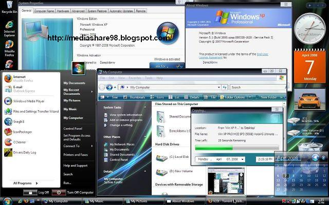 Window Xp Pro Sp3 Vistavg Ultimate Genuine Full Version