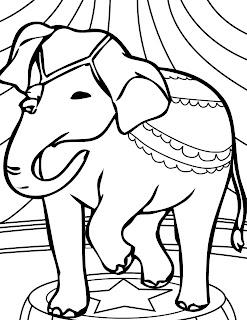 Coloring Pages For Animals: Elephant Big Animals Coloring