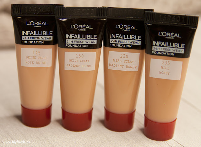 L'Oréal - Infaillible 24h Fresh Wear Foundation - Review & Swatches