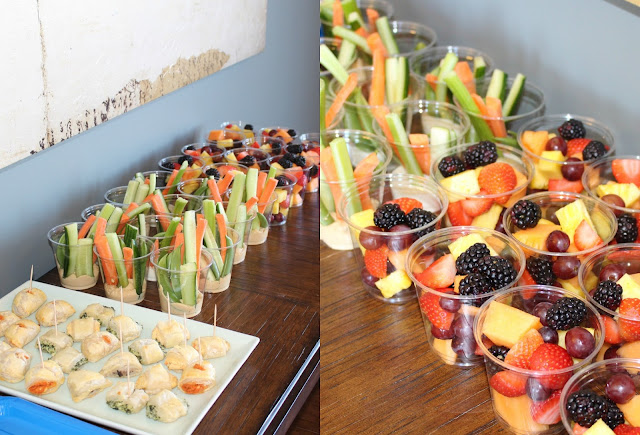 Veggie and Fruit cups for birthday party