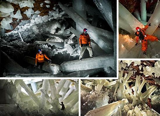 Cavernas mais lindas perigosas - Mina de Naica - México