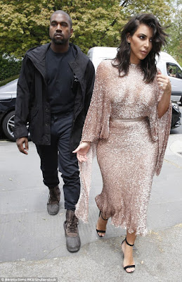 Kim K and her husband Kanye West t ventured out in style at The Vogue 100 Festival: Fashion,