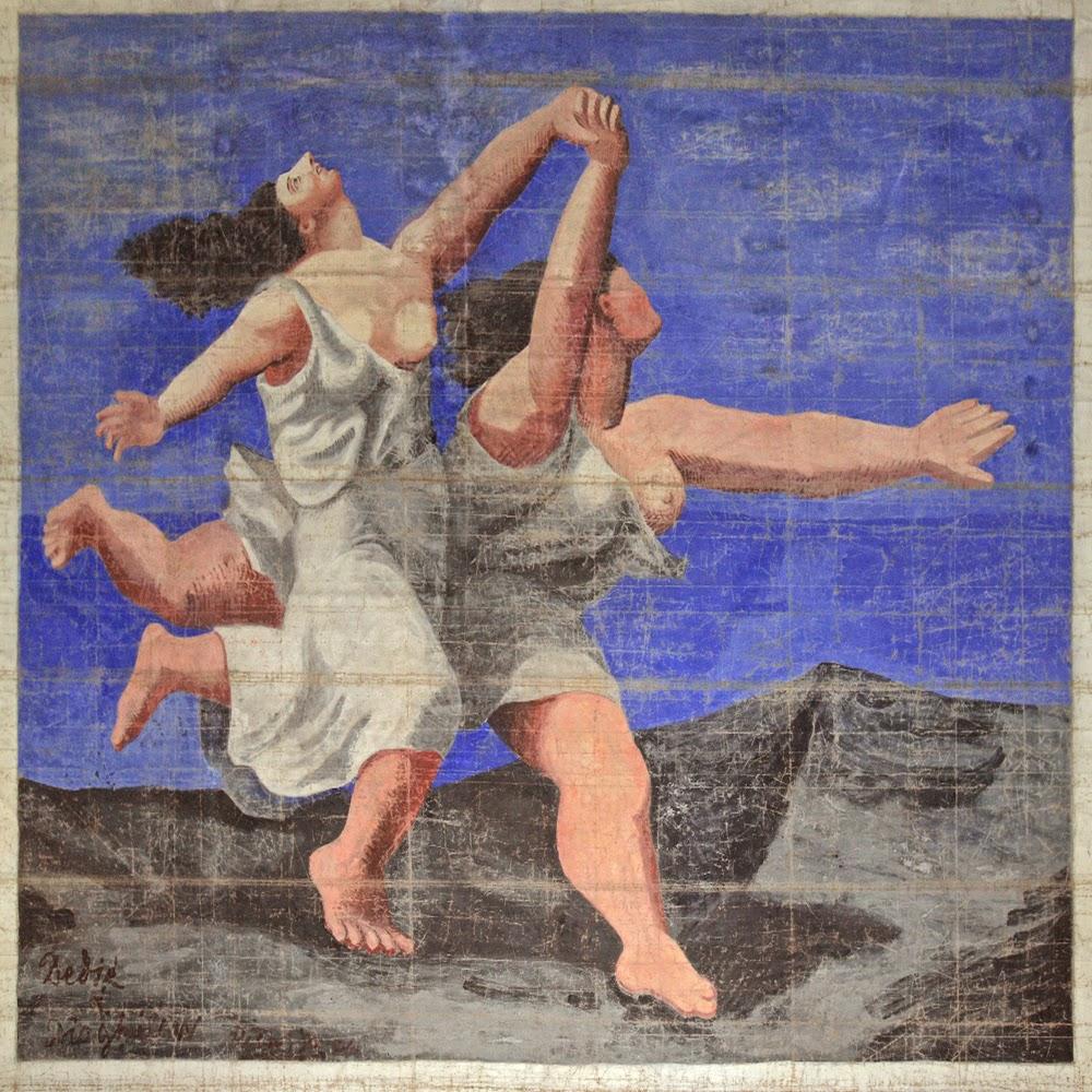 Picasso - Dos mujeres corriendo en la playa - Telón para Le Train Bleu