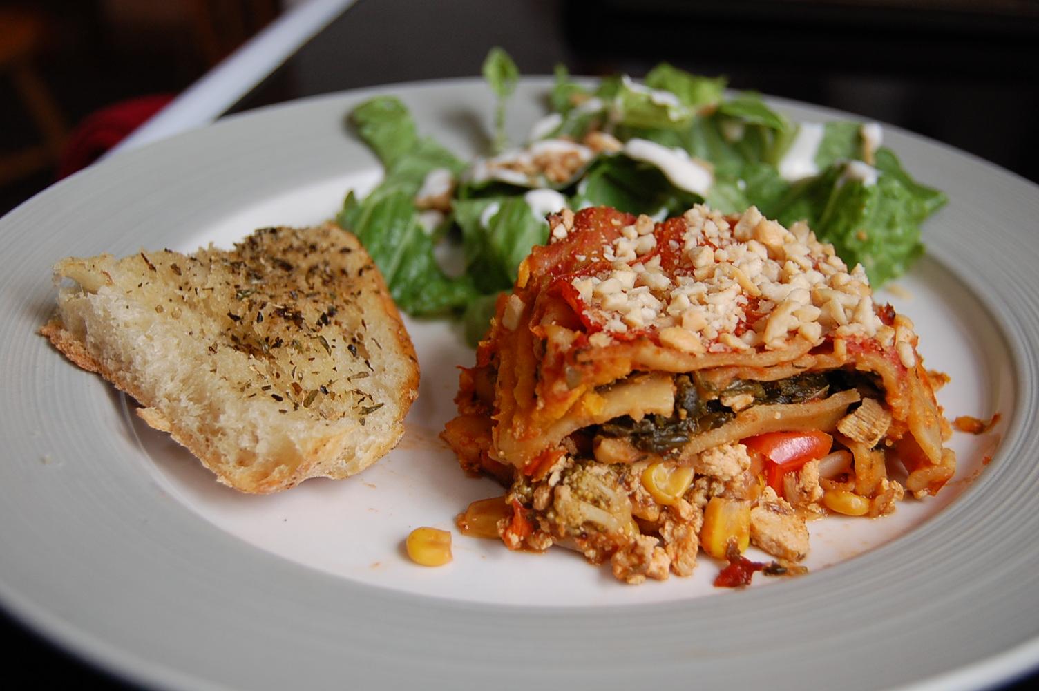 The Mindful Menu Rip S Rockin Vegetable Lasagna