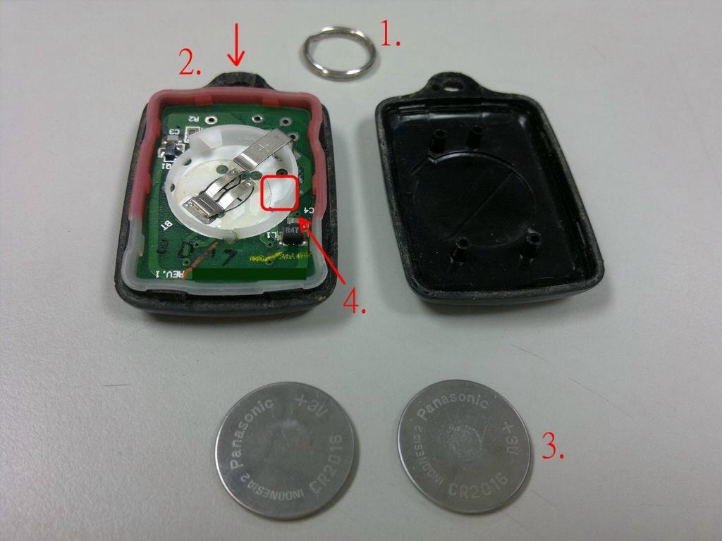 Chandler: Toyota 汽車遙控器換電池