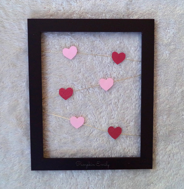 DIY Valentine's Day Frame Art