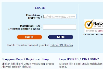 Cara Bayar Pajak Lewat Internet Banking Mandiri