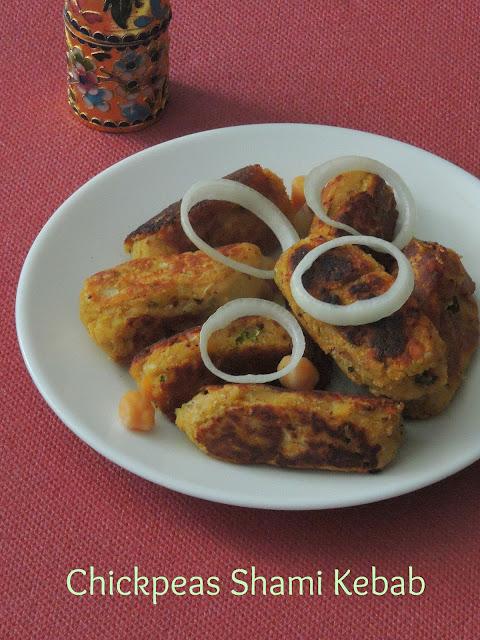 Vegetarian Shami kebab,Chickpeas shami kebab