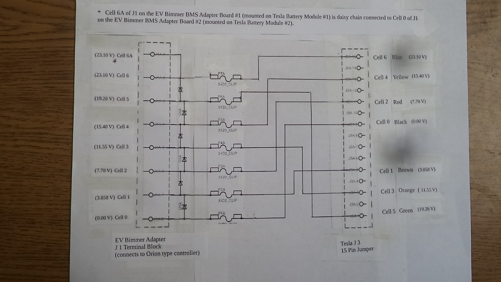 Williams Ev Bimmer 325i Tesla Battery Interface Wiring Diagrams Cell Diagram Dsc06336 Image Of The Preliminary That Connects Orion To Module Number 1