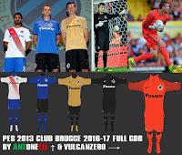 PES 2013 Club Brugge Kits 2016-17 By ANTONELLI