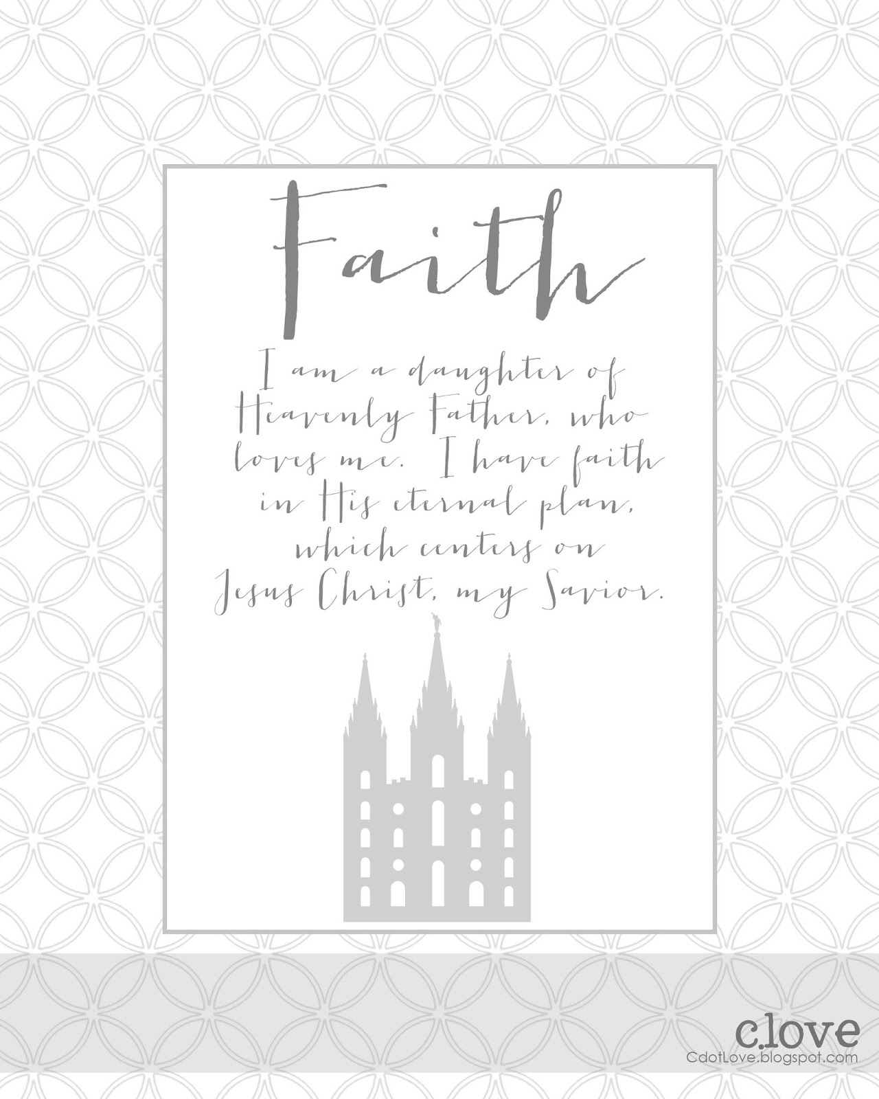 Cdotlove Design By Kristin Clove Lds Young Women Values Printables