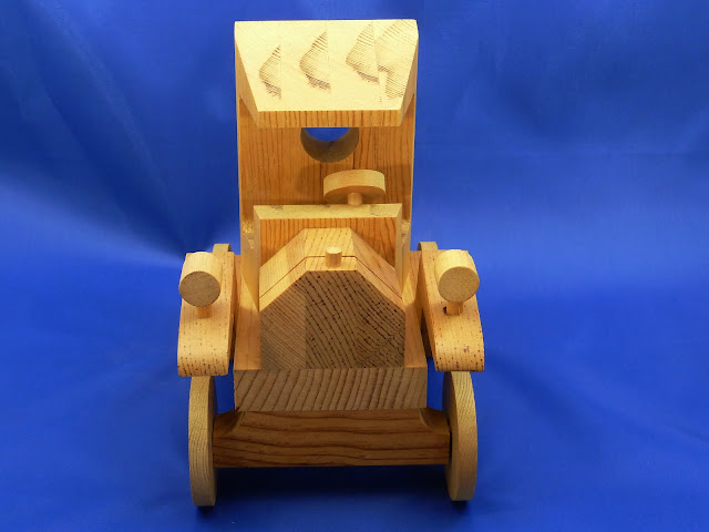 Front - Handmade Wooden Toy Truck - Norm Marshall Model T Pickup Truck - Version 2