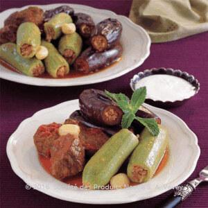 طريقة التحضير.............محشي الكوسا والباذنجان باللحم وصفات