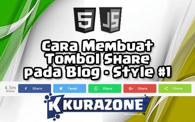Cara Membuat Tombol Share pada Blog - Style #1