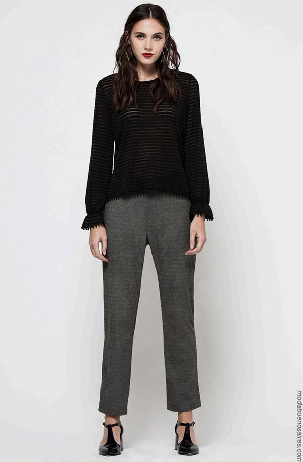 Moda invierno 2017 blusas de moda mujer.