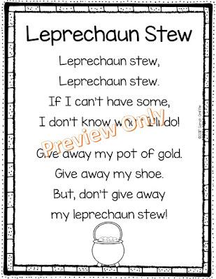 https://www.teacherspayteachers.com/Product/Leprechaun-Stew-St-Patricks-Day-Poem-for-Kids-3004883