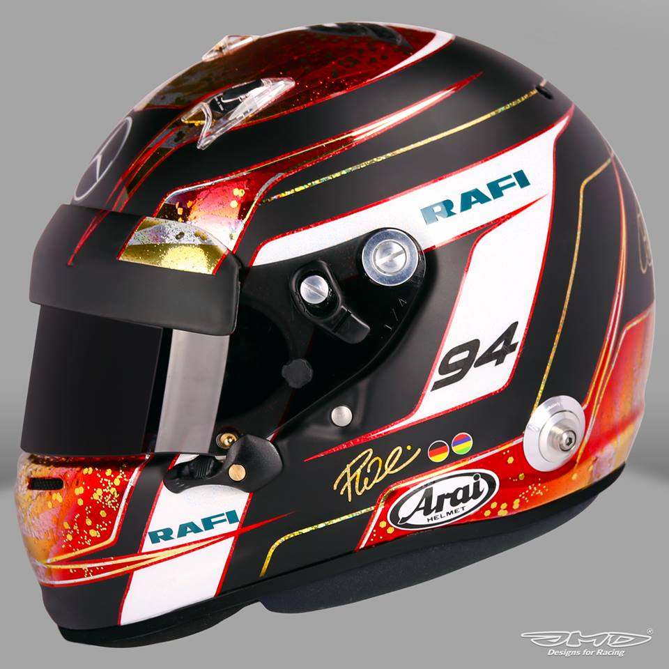helm 37 arai gp 6 p wehrlein monaco 2016 by jens munser. Black Bedroom Furniture Sets. Home Design Ideas