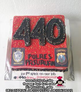 Kue Tart Ulang Tahun Polres Pasuruan