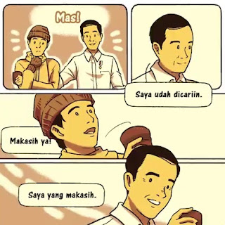Cerita Komik Presiden Jokowi ke Masa Lalu