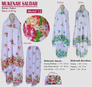 Grosir Mukenah Bali cantik -saudah motif 12