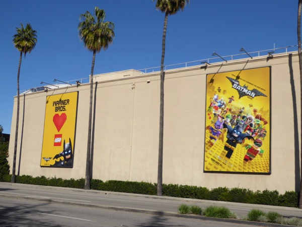 Lego Batman Movie billboards Warner Bros Studios