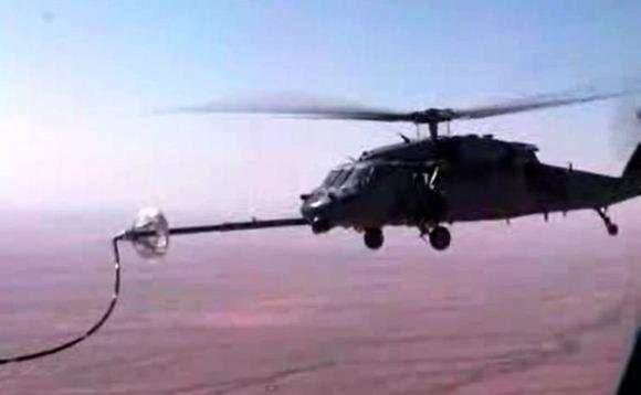 Helikopter air refueling