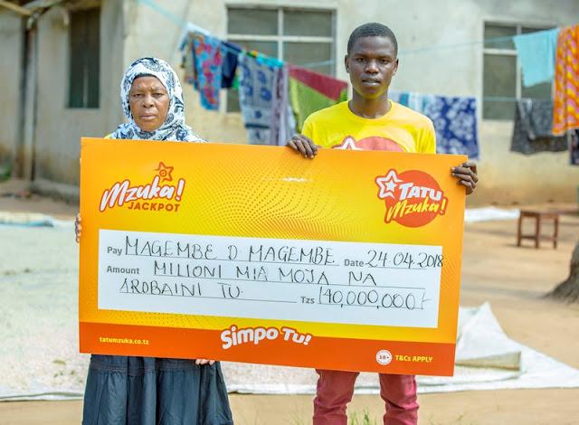 Muendesha bodaboda ashinda milioni 140 za Tatu Mzuka