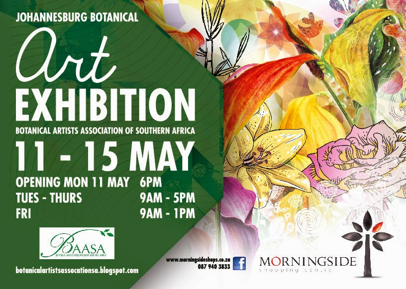 Exhibition Booth Invitation : Botanical artists association of southern africa